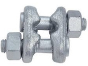 """7/16""""-1/2"""" Forged Fist Grip Clip, Hot Dipped Galvanized (100/Pkg)"""