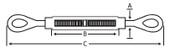 "5/16""x4-1/2"" Turnbuckles - 304 Stainless Steel - Eye/Eye (25/Pkg.)"