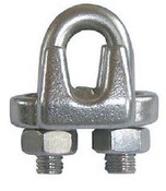 "9/16"" Forged Wire Rope Clip, Galvanized (100/Pkg)"