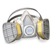 3M 5203 Half Facepiece Disposable Respirator for Organic Vapor/Acid Gas, Medium (12 Mask/Case)