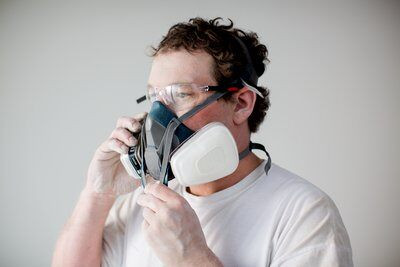 3m medium paint project respirator mask