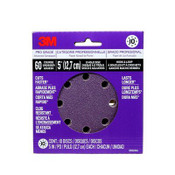 3M Pro Grade Sanding Discs, 88521NA-9-B, 5 in X 8 Hole, 60 Grit, 9/Pack
