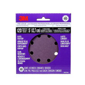 3M Pro Grade Sanding Discs, 88523NA-9-B, 5 in X 8 Hole, 120 Grit, 9/Pack