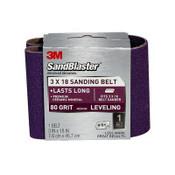 3M SandBlaster Sanding Belts 9189NA 3 in x 18 in 10/Pack
