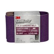 3M SandBlaster Sanding Belts 9192NA 3 in x 21 in 80 Grit 10/Pack