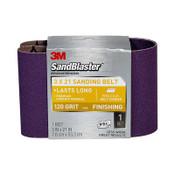 3M SandBlaster Sanding Belts 9191NA 3 in x 21 in 120 Grit 10/Case