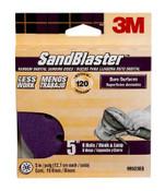 3M SandBlaster Sanding Discs 99523ES-9-B, 5 in x 8Hole, 120 Grit, 10 Each 3 Pack