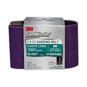 3M SandBlaster Sanding Belts 9193NA 3 in x 21 in 50 Grit 10/Pack