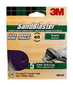 3M SandBlaster Sanding Discs 99521ES-9-B, 5 in x 8Hole, 60 Grit, 10 Each 3 Pack