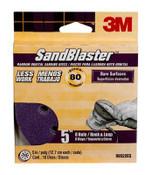3M SandBlaster Sanding Discs 99522ES-9-B, 5in x 8Hole, 80 Grit, 10 Each 3 Pack