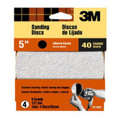 3M Discs 9172ES, 5 in, All Purpose 40 Coarse Grit Adhesive Backed 1 Pack