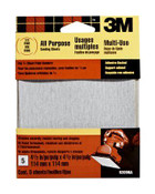 3M Adhesive Backed Palm Sander Sheets 9209DC-NA, 4.5 in x 4.5 in Fine 120 Grit 10 Packs