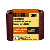 3M Sanding Belt, 9261NA-2, 3 in x 18 in, Medium, 80 Grit, 2 Each 6 Packs