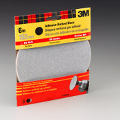3M Adhesive Backed Sandpaper 9183DC-NA, 6 in, Medium 80 Grit 10 Packs