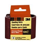 3M Sanding Belt 9250NA-2 , 2.5 in x 16 in, Fine, 120 Grit, (Qty. 10)