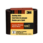 3M Sanding Belt 9260NA-2, 3 in x 18 in , Fine, 120 Grit, 6 Packs