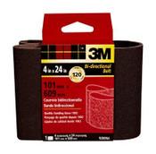 3M Sanding Belt, 9280NA, 4 in x 24 in, Fine, 120 Grit, (Qty. 10)