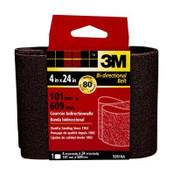 3M Sanding Belt, 9281NA, 4 in x 24 in, Medium, 80 Grit, (Qty.10)