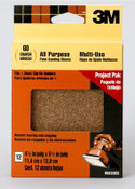"3M Clip-On Palm Sanding Sheets 99222ES, 4 1/2"" x 5 1/2"" 60 Coarse Grit, 9 Packs"