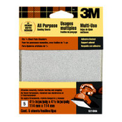 3M Adhesive Backed Palm Sander Sheets 9210DC-NA, 4.5 in x 4.5 in Medium 80 Grit 10 Packs