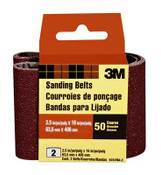 3M Sanding Belt Coarse 9252NA-2, 2.5 in x 16 in, 50 Grit, 10 Pack