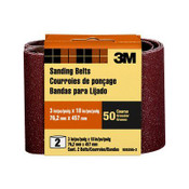 3M Sanding Belt, 9262NA-2, 3 in x 18 in, Coarse, 50 Grit, 2 Each 6 Pack