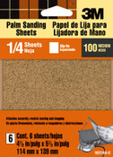 3M Aluminum Oxide Quarter Sheets 9221ES, 4.5 in x 5.5 in, Medium 100 Grit 5 Pack