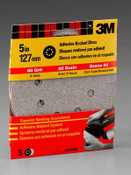 3M Adhesive Backed Discs 9321NA, 5 in, 8 Hole Medium 80 Grit 5 Each 10 Pack