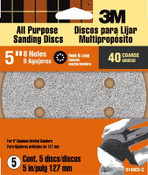 3M Discs 9148ES, 8 Hole, 5 in, Coarse, 40 Grit 5 Packs
