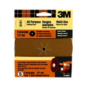 3M Center Mount Discs 9150DC-NA, 5 in, Fine 120 Grit 10 Packs