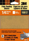3M Aluminum Oxide Quarter Sheets 9220ES, 4.5 in x 5.5 in, Fine 150 Grit, Open Stock 5 Packs
