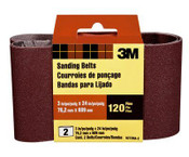 3M Sanding Belt, 9272NA-2, 3 in x 24 in, Fine, 120 Grit, (Qty. 10)