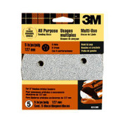 3M Hook and Loop Disc 9310W, 40 Grit 5 in x 5 Hole 5 Each 10 Packs