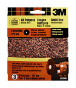 3M Aluminum Oxide Center Mount Discs 9153DC-NA, 5 in, Extra Coarse Grit 3 Each 10 Packs