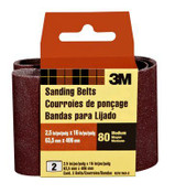 3M Sanding Belt 9251NA-2, 2.5 in x 16 in, Medium, 80 Grit, 2 Each 10 Packs