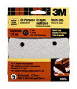 3M Hookit Disc 9308NA, 5 in, 5 Hole Medium 80 Grit 5 Each 10 Packs