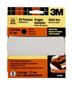 3M Hook and Loop Disc 9142W 80 Grit, 5 in No Holes 5 Each 10 Packs