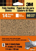 3M Aluminum Oxide Quarter Sheets 9222ES, 4.5 in x 5.5 in, Coarse 60 Grit 6 Each 5 Packs