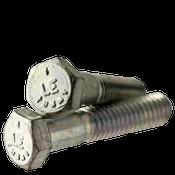 """1""""-8x3-1/2"""" (PT) Hex Cap Screws Grade 5 Coarse Med. Carbon Zinc CR+3 (USA) (10/Pkg.)"""