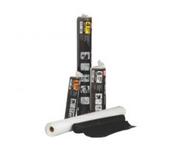 Grip Rite Consumer Poly Sheeting, Black, 4 mil., 20 ft x 25 ft, #42025B (4 Rolls/Carton)