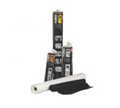Grip Rite Consumer Poly Sheeting, Black, 6 mil., 10 ft x 25 ft, #61025B (8 Rolls/Carton)