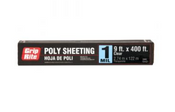 Grip Rite Light Duty Poly Sheeting, Clear, 1 mil., 9 ft x 400 ft, #19400C