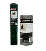 "Grip Rite #PN36125G Poultry Netting, Vinyl Coated Green, 36"" x 25 ft, 20 ga, 1"" Mesh"