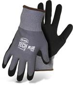 Boss Nylon Knit Glove w/ Sandy Foam Nitrile Coated Palm, Size 2XL (12 Pair)