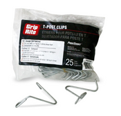 Grip Rite #TPCLIP1225 T-Post Clips, 12 gauge (25/Bag)
