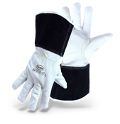 BOSS Goatskin Leather Driver With Gauntlet Cuff, Keystone Thumb, Size Medium (12 Pairs)