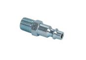 """Grip Rite #GRF14MPD Industrial Steel Plugs, 2 Piece, 1/4"""" Body Size, 1/4"""" NPT Size, Male Thread (25/Pkg.)"""