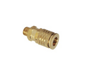 "Grip Rite #GRF14MCUD Universal Brass Coupler, 1/4"" Body Size, 1/4"" NPT Size, Male Thread (10/Pkg.)"