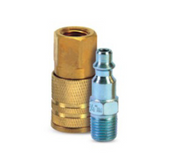 "Grip Rite #GRF14PCIK Industrial Plug & Coupler 5-Piece Kit, 1/4"" Body Size, 1/4"" NPT Size"