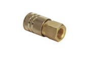 "Grip Rite #GRF14FCID Industrial Brass Coupler, 1/4"" Body Size, 1/4"" NPT Size, Female Thread (10/Pkg.)"